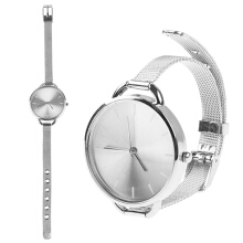 Farfi Ultra-thin Slim Mesh Strap Quartz Analog Wrist Watch