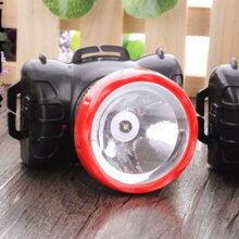 [kingstore]Bright High Capacity Rechargeable Outdoor Headlamp Headlight One Lamp Head Black Black And Red