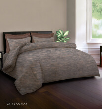 KING RABBIT Bedcover Double Motif Latte - Coklat/ 230 x 230cm Brown
