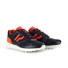 PIERO SNEAKERS JOGGER PREMIUM RED ALLERT - BLACK/RED/ORANGE