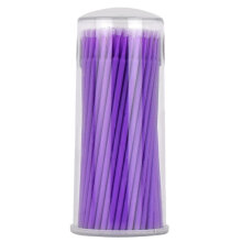 [COZIME] 100 pcs Bottled Disposable Cotton Bud Eyelash Grafting Mascara Cleaning Stick Purple1