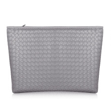 Fancy Heart Synthetic Leather Weave Large Clutch Evening Party Wristlet Handbag