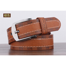 Dandali Original imported Fashion pin buckle embossed sewing thread men's belt