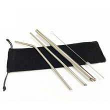 Stainless Steel 316 Straw - 1 pack Silver
