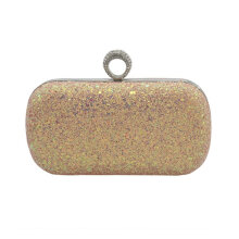 [LESHP]Evening Clutch Bags Rhinestone Studded With Chain Shoulder Bag Women Handbag Gold