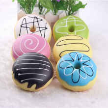SANQI Squishy murah model donut best seller mainan anak MOTIF RANDOM MULTICOLOR Multicolor