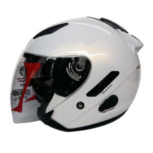 KYT Galaxy Slide - Helm Half Face - White