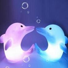 Farfi Dolphin 7 Changing Colors LED Night Light Decoration Nightlight Children as the pictures