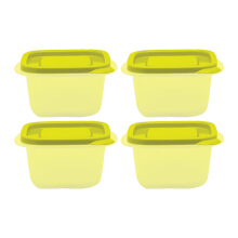 TECHNOPLAST Azumi Small Square Tall 400ml Set of 4 - Yellow