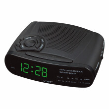 JDWonderfulHouse JDwonderfulhouse VST ST-10 EU Plug Electronic AM/FM Radio LED Digital Display Alarm Clock Snooze Function Clock