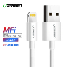 UGREEN 1M Lightning Cable, Lightning to USB Data Sync Cable-White