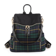 SiYing Fashion plaid bag Korean version of the multi-function backpack