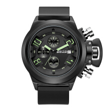 BAOGELA Men's Silicone Strap Quartz Watch S1606 - Black