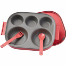 Pot De Miel Food Tray Coral Red