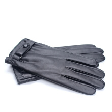 SiYing Fashion Leather Gloves Thicken Men's Full Touch Screen Driving Riding Gloves