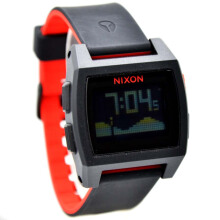 Nixon Rubber Strap Men 1488-D39HTMR Digital-Hitam Merah