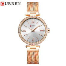 CURREN 9011 Watch Women Fashion Quartz Wristwatches Crystal Design Ladies Gift
