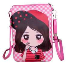 SiYing Cartoon Girl New PU Leather Vertical Children's Crossbody Bag