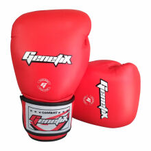 GENETIX Boxing Gloves COMBAT Leather GBG4L Red