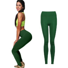 Women YOGA Workout Gym Sports Pants Leggings High Waist Fitness Stretch Trousers_Army Green_All Size