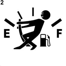 Farfi Car Vehicle Truck Window Reflective Funny Gas Fuel Gage Empty Sticker Decal