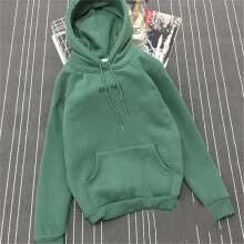 Allgood Fashion Autumn Winter New Women Hooded Sweater Letter Print Oh,Yes Loose Plus Velvet Thick Hood with Hoodie Female