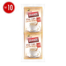 KAPAL API Grande White Coffee With Choco Topping 20gr x 10pcs