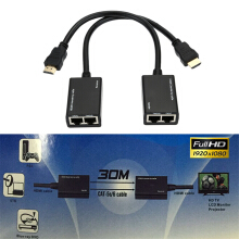 Blitzwolf HDMI Over RJ45 CAT6 CAT5e Cable LAN Ethernet Extender Repeater 3D up to 30M   -  -