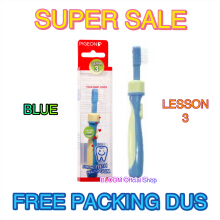 PIGEON Training Toothbrush Lesson 3 BLUE Sikat Gigi Bayi