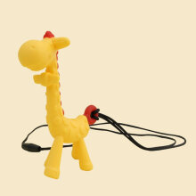 [kingstore] Giraffe Teether Necklace Bite Gift For Baby Infant Eco Friendly Yellow