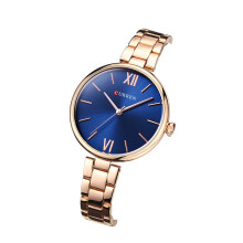 CURREN Ladies Gold Watch Women Famous Brand Steel Mesh Simple Geneva Watch Women Waterproof Quartz Watch