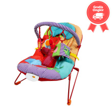 Sugar Baby Deluxe Musical Vibration Bouncer Happy Zoo
