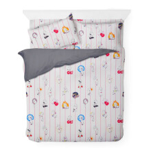 JOYSLEEP Bedcover Joy Character Stripe - Grey / 140 x 230cm