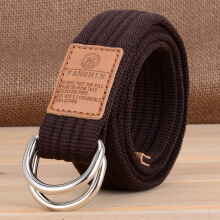 AWMEINIU Original Korean canvas jeans double ring belt