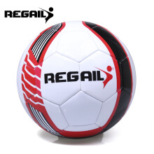 Size 5 PU Shooting Star Shape Training Soccer Ball Football  - Black