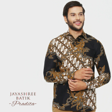 JAYASHREE BATIK Slim Fit Long Sleeve Pradita - Black