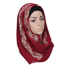 LOVOSME elegant ladies hot drilling high quality chiffon female headscarf