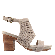Hush Puppies Brooklyn Mariska In Taupe Suede Weave