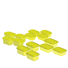 TECHNOPLAST Azumi Bento Sealware Tall Set of 14 - Yellow
