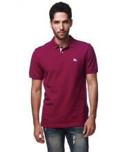 Authentic Burberry Men Raspberry Sorbet Check Placket Polo Shirt S - XXL Made In Turkey