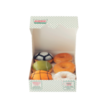 Krispy Kreme - 6 Doughnut (3 Assorted Sport + 3 Glazed) Value Rp 72.000