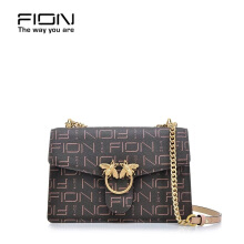 FION PU + Cow Leather Top Sling bag - Brown/