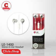 LG HEADSET STEREO IN EAR LE1400-2 WHITE
