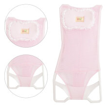 [OUTAD] Baby Bath Net Tub Bracket Comfortable Rack Perfect For Bathing Pink