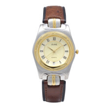ALBA Jam Tangan Pria - Green Silver Gold - Leather Strap - AXDA10