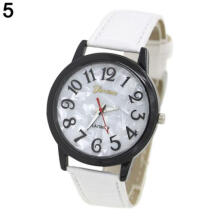 Farfi Geneva Shell Round Dial Analog Quartz Sport Men Women Wrist Watch