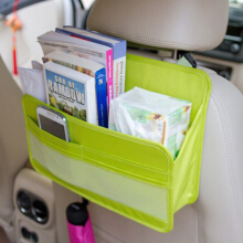 JDwonderfulhouse 8 Colors Back Seat Organizer Oxford Fabric Hanging Storage Bag Seat Cover Protector Rose