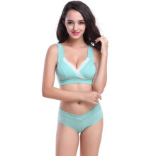 8068 Women's Front Snap Maternity & Nursing Bra Under Bump Cotton Cross Bra