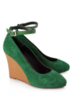 Pre-Owned Céline Suede Pump Wedges