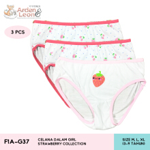Arden & Leon Celana Dalam Anak Perempuan 3 pcs Strawberry Collection F1A-G37
